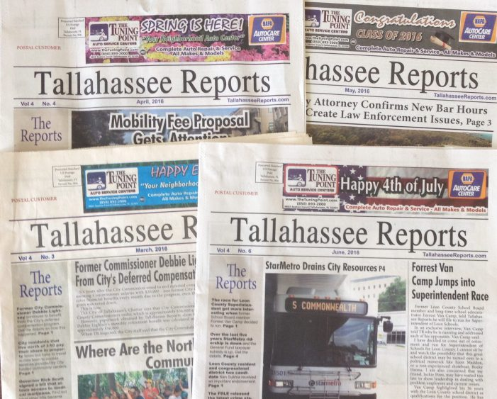 Tallahassee Reports Expands Print Edition, Adds Award Winning Reporter