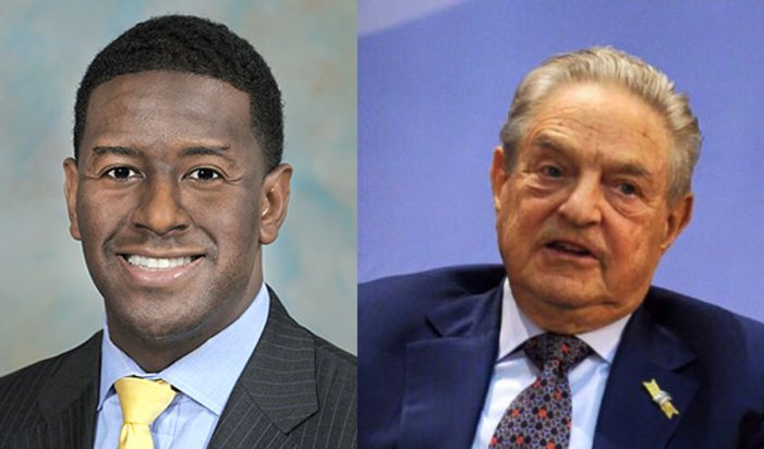 George Soros Puts Another $100k On Gillum Gubernatorial Bid