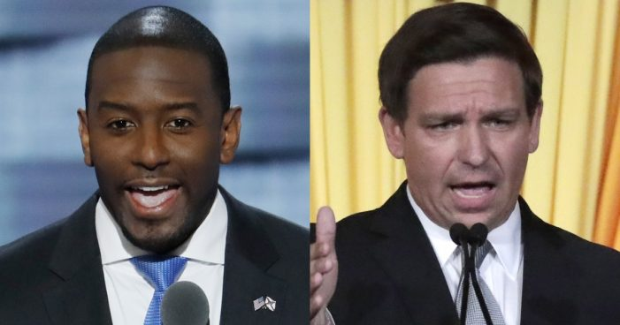 The Florida Police Benevolent Association Endorses Republican Ron DeSantis, Five Sheriffs Choose Andrew Gillum