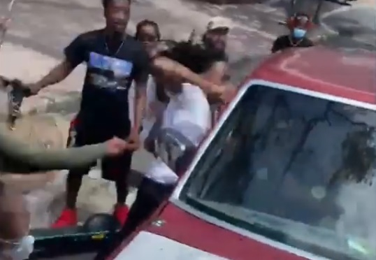 Video Shows Assault of Red Truck Occupants Before Moving Through Protesters