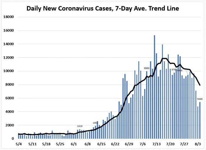 August 4: Tracking Florida COVID-19 Cases, Hospitalizations, and  Fatalities